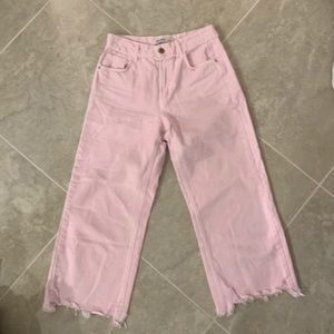 Zara pink girlfriend jeans